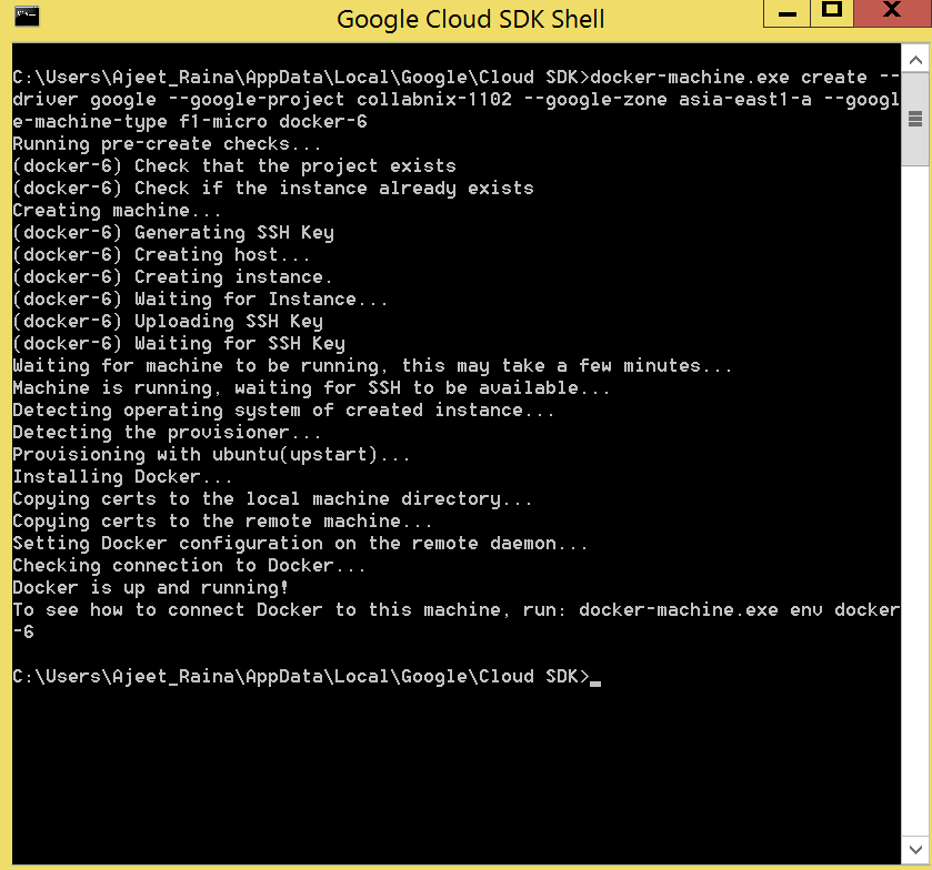 Docker_Google_working
