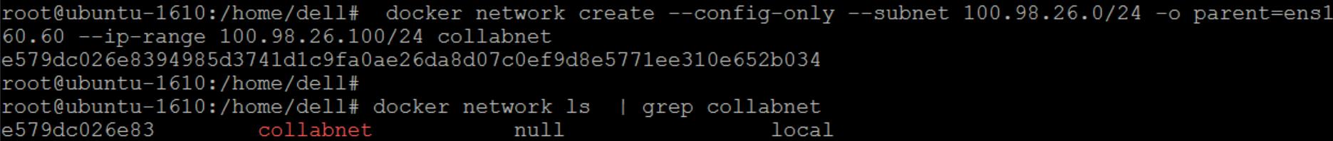 docker network create plugin not found