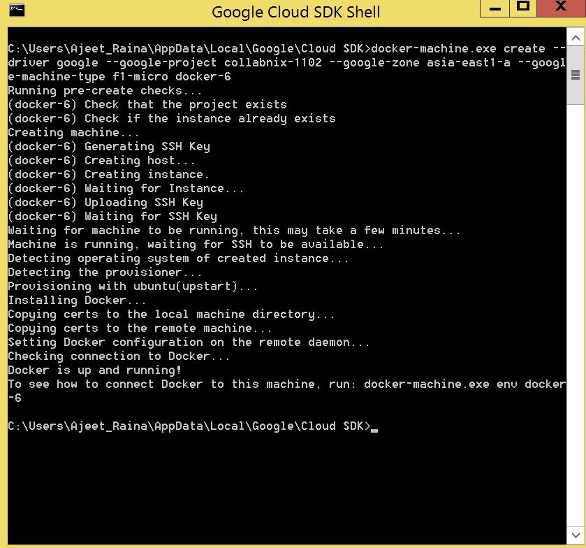Docker_Google_working