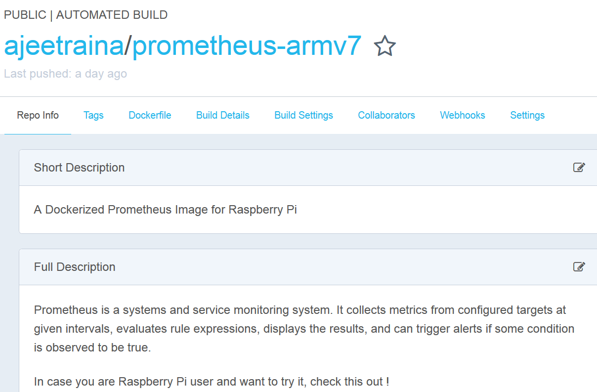 Running Prometheus Docker container for monitoring Microservices on