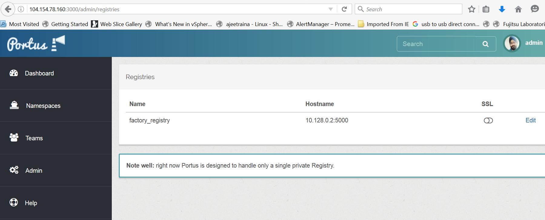Building Web Frontend/UI for Local Docker Registry using