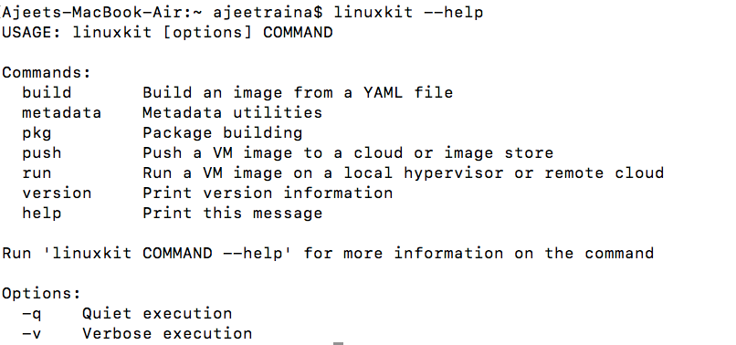Running LinuxKit locally on Oracle VirtualBox Platform Made